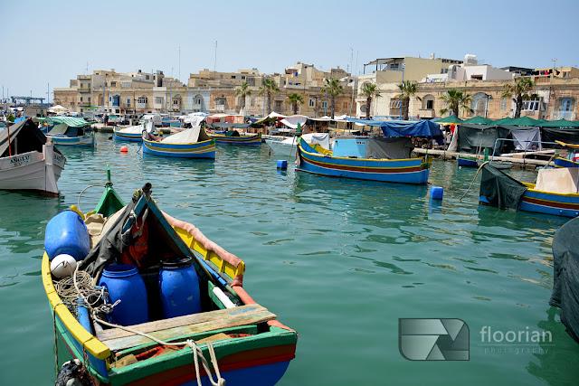 Zabytki i atrakcje turystyczne Malty - Marsaxlokk - największy port rybacki na Malcie