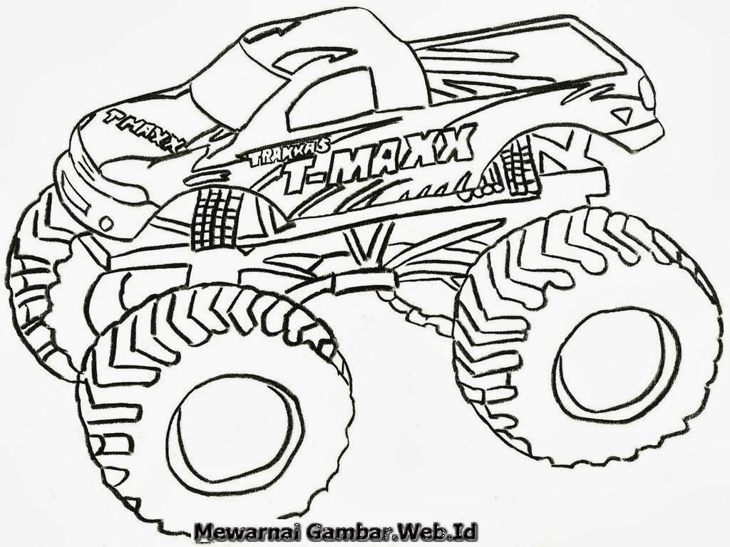 Mewarnai Gambar Sepeda Motor Mewarnai Gambar Modifikasi Kabar