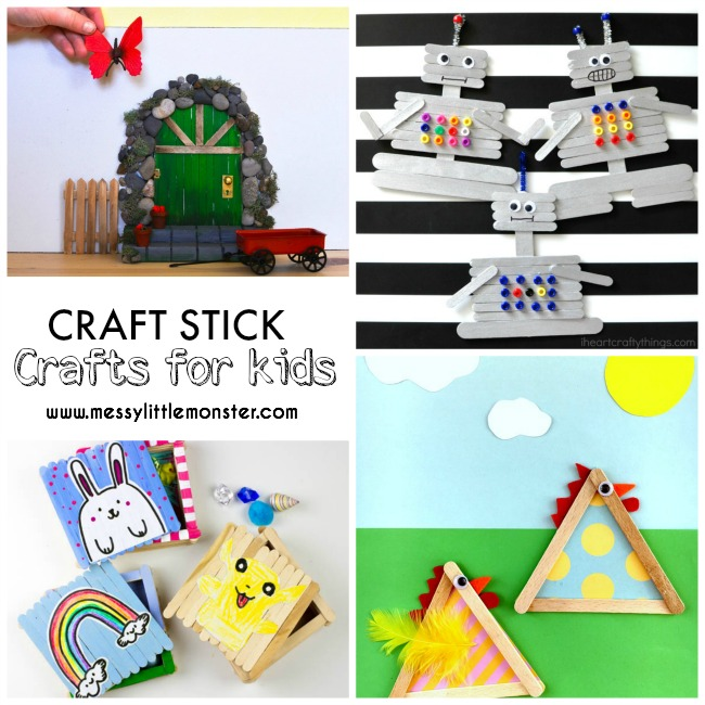 20+ of the best craft stick (lollipop stick / popsicle stick) craft idea for kids.