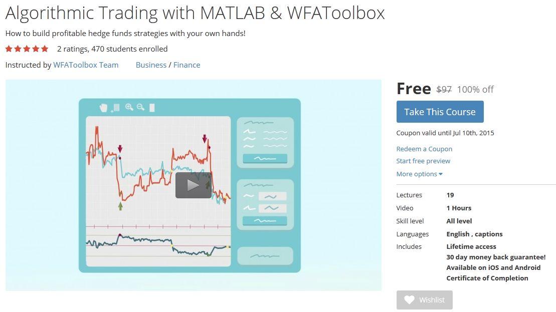 Algorithmic trading strategies course
