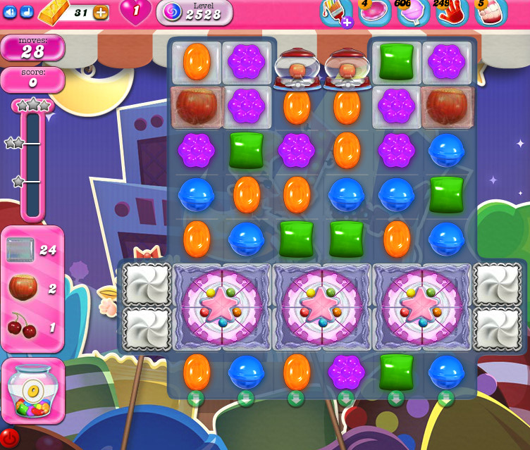 Candy Crush Saga level 2528