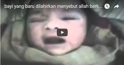 VIDEO: Allahu Akbar! Bayi Berumur 3 Hari Ini Terus Ucapkan Lafadz 'Allah' Dengan Sangat Jelas