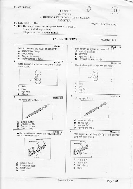 ITI QUESTIONS (VOCATIONAL TRADES TRAINEE'S, VOCATIONAL