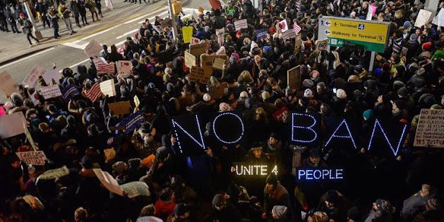 Amerika Berlalukan Larangan Perjalanan Ke AS bagi Enam Negara Muslim