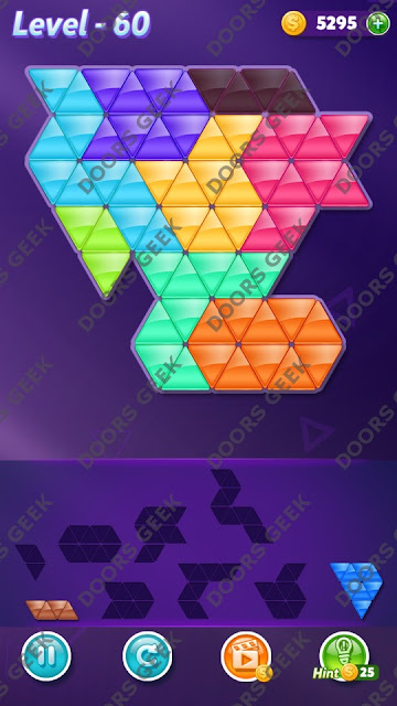 Block! Triangle Puzzle 8 Mania Level 60 Solution, Cheats, Walkthrough for Android, iPhone, iPad and iPod