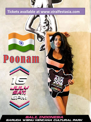 Instamag-Poonam Pandey to represent INDIA at the Viral Fest Asia 2016