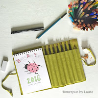 homespun by laura daily doodle ladybug colored pencil sketch sketchbook