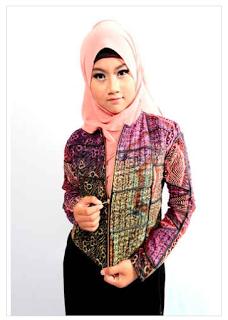 Gambar Baju Kantor Batik Muslim Remaja