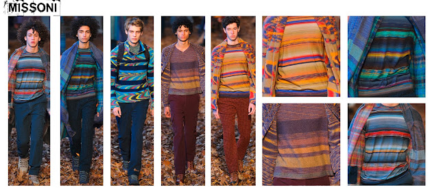 Mesnwear, mens knitwear, mens fashion, knitwear trend, knitted stripes, striped knit, striped jumper, ombre stripe, Autumn/winter 2016