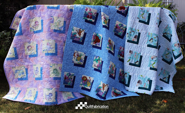 three Shifting Shadows quilts