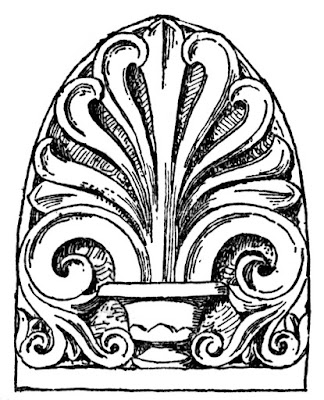 Georgian Stucco Frequently Employed The Greek Anthemion Design