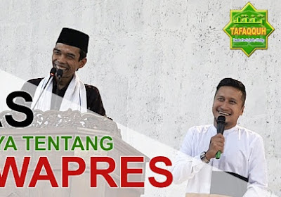 Jawaban Tegas & Lucu Ustadz Abdul Somad, Lc., MA ketika Ditanya Soal Cawapres
