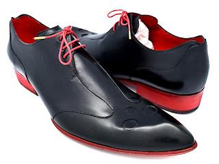Derby, cuir noir, paulus bolten, patine, chaussures habille, souliers
