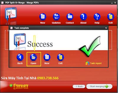 Cắt file PDF với PDF Siplit Or Merge - H14