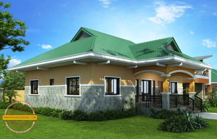 Free bungalow home blueprints and floor plans with 2 for Free 3 bedroom bungalow house plans
