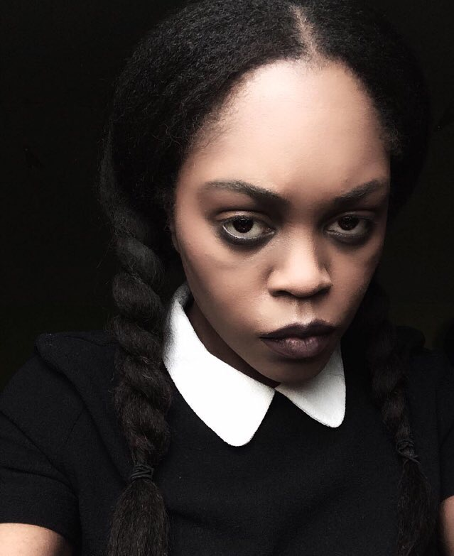 The Costume: Black Wednesday Addams Makeup