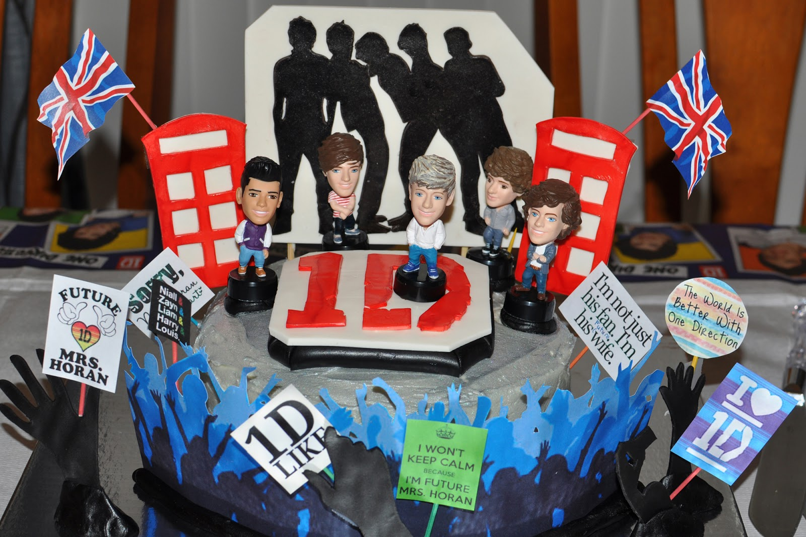 The Bake More One Direction In Concert Cake