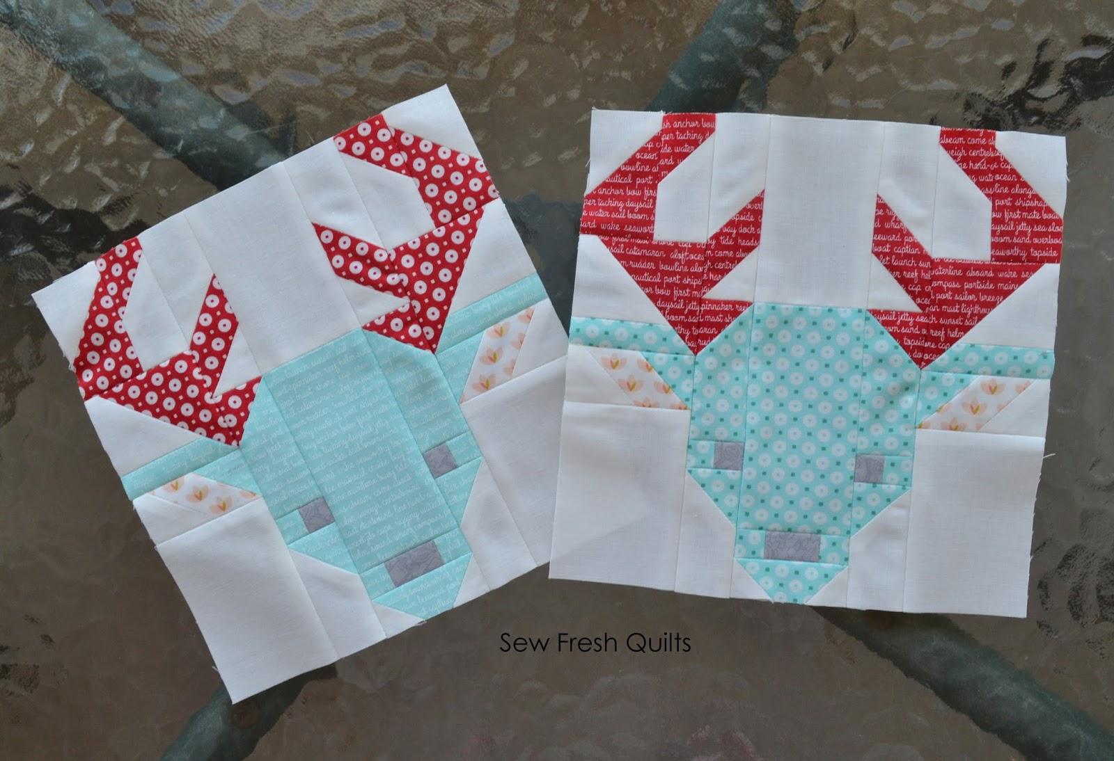 Sew Fresh Quilts: Winter Deer Christmas Cushions : deer quilt patterns - Adamdwight.com