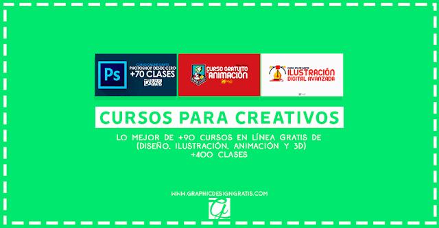 cursos onlien gratis de diseño gráfico, ilustración, animación y 3D