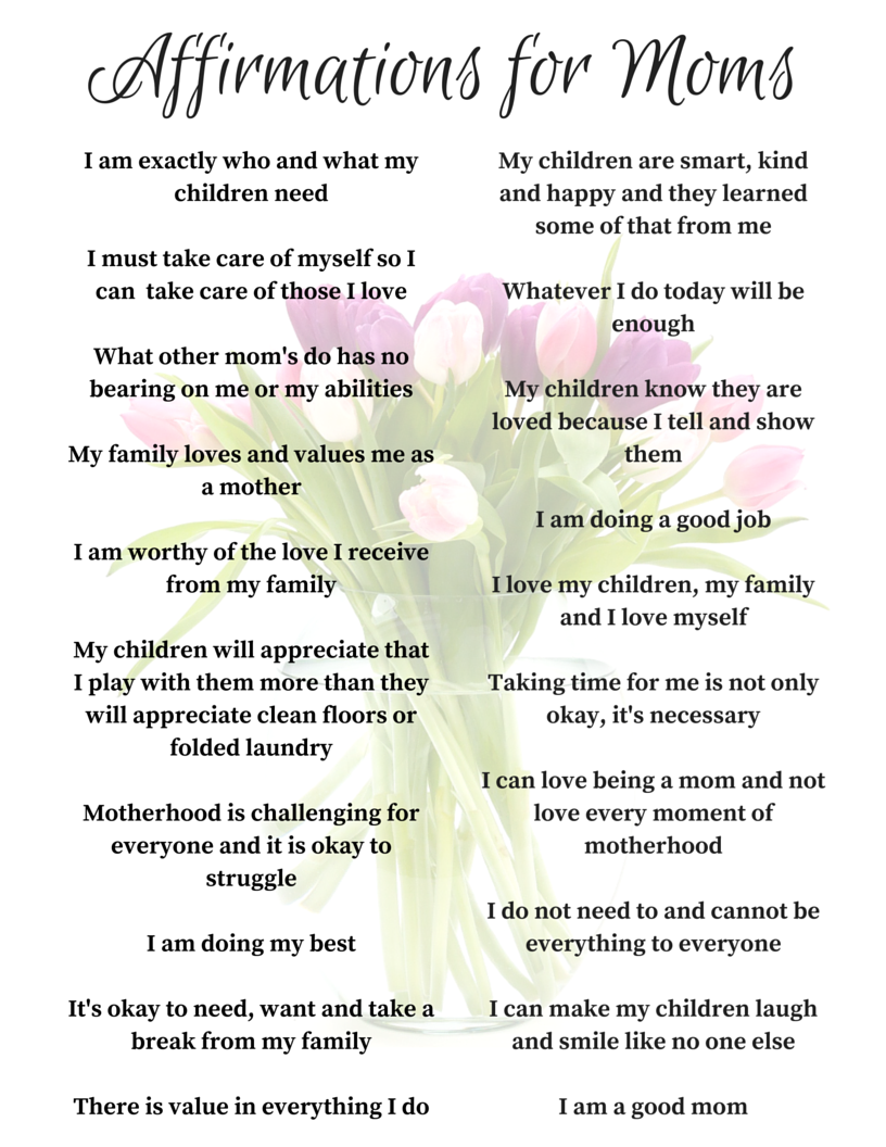Simply Shaunacey: 20 positive affirmations for moms