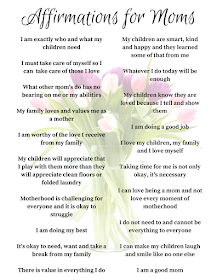 affirmations for moms