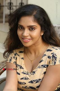 Telugu Actress Karunya Chowdary Stills in Short Dress at ATM Not Working Press Meet  0119.jpg