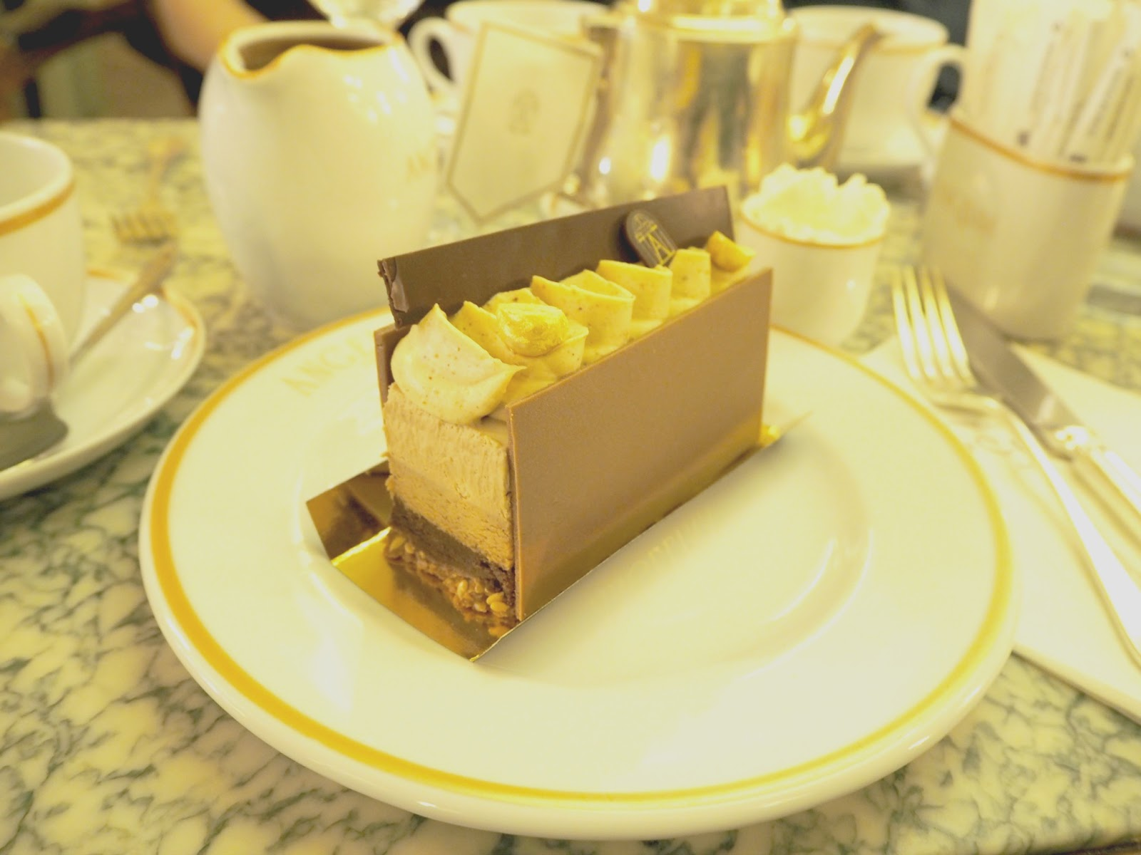 Angelina cafe cake in Paris