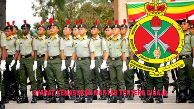 Syarat Kemasukan Maktab Tentera DiRaja 2020/2021 MTD