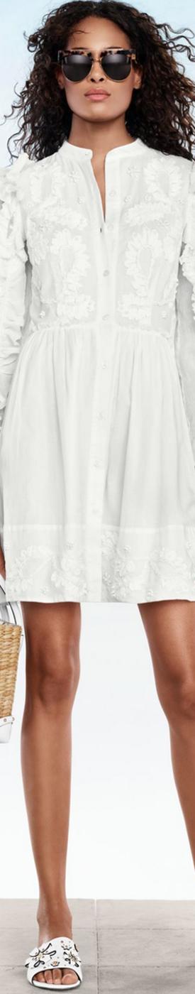 MICHAEL MICHAEL KORS Embroidered Shirtdress