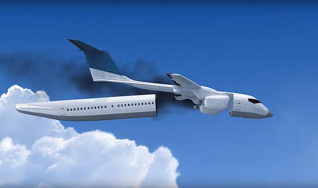 تصميم جديد لطائرة تتحول الى مقصورة نجاة في حالة تحطمها !
