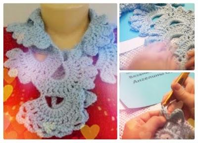 Bufandas corbatas patrones y tutorial ganchillo