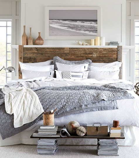 Coastal beach gray bedroom ideas shop the look for Bedroom ideas grey bed