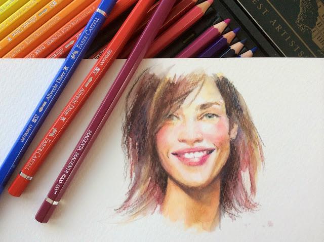 Retrato a lápiz de color Faber Castell