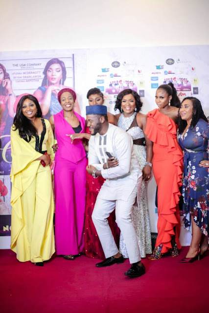 Rita Dominic, Omotola Jalade, Sola Sobowale, Biola Alabi and more attend ?Christmas Is Coming? movie premiere