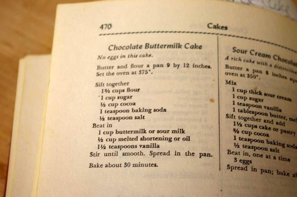 Fanny Farmer Chocolate Buttermilk Cake