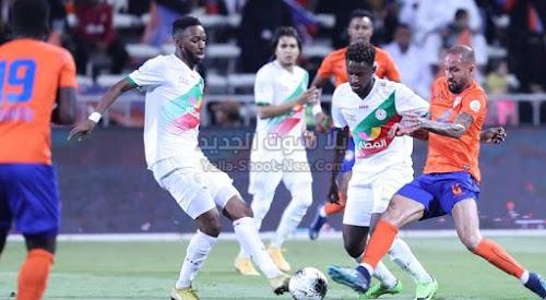 بهدف لمثله نادي الاتفاق يفرض التعادل الاجابي على فريق الفيحاء في الجولة التاسعه من الدوري السعودي