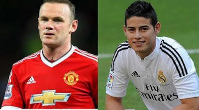 James Rodriguez Datang ke MU, Rooney Hengkang !!