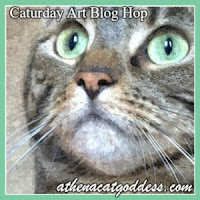 Caturday art blog hop, Athena Cat Goddess