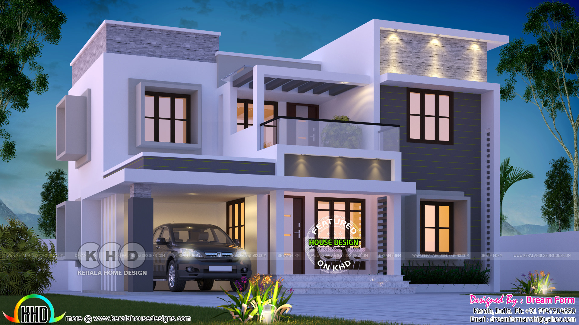 1905 Square Feet Box Model Contemporary Kerala Home Kerala