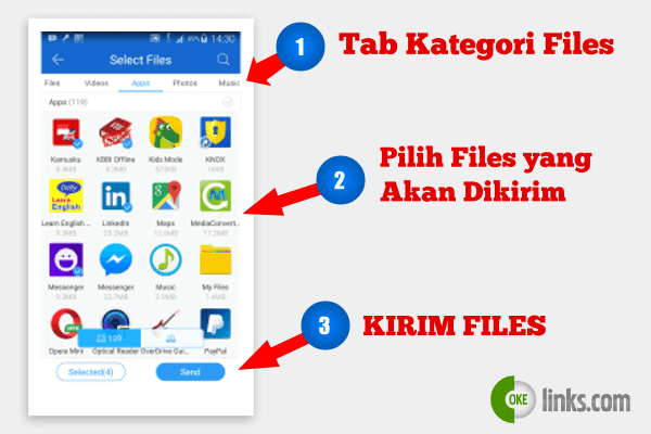 Bagaimana cara mengirim file cepat dengan shareit