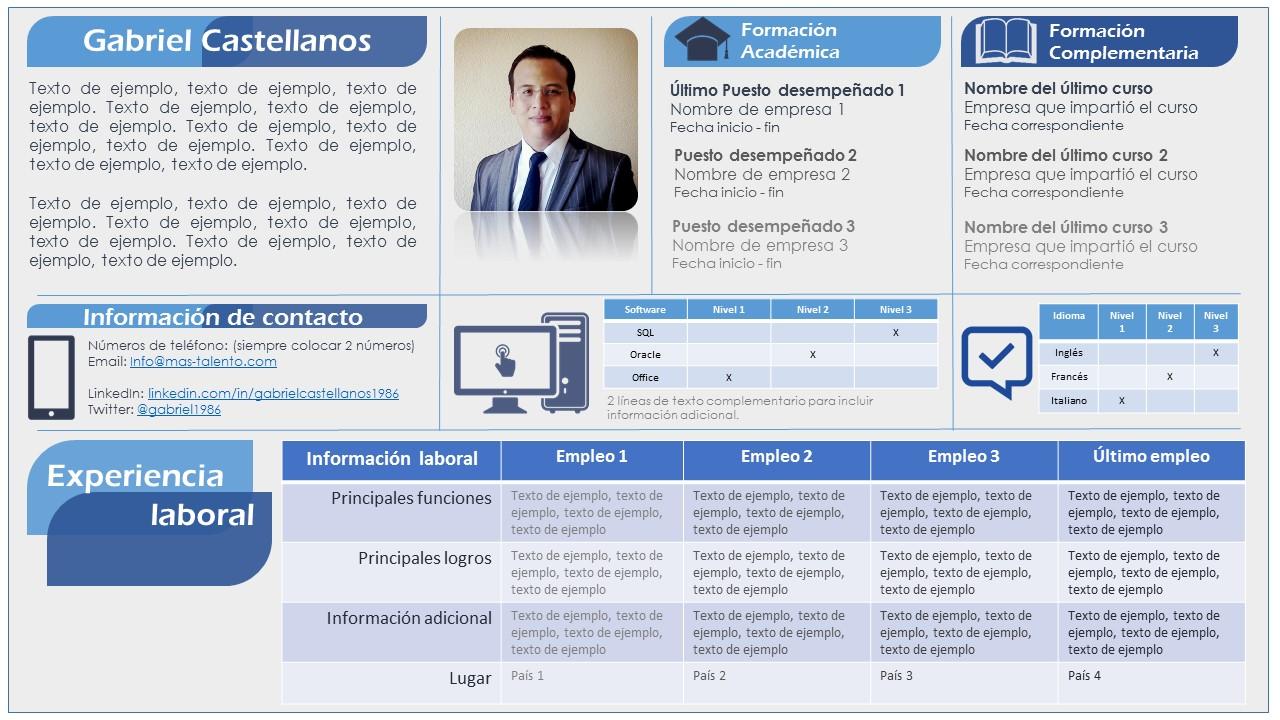 Plantilla de CV estilo Infografía. 100% editable y gratis - Hola