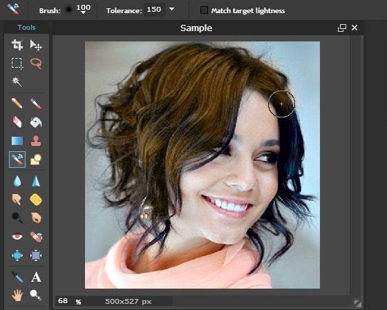 edit foto merubah warna rambut