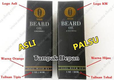 Perbedaan Bungkus Ombak Beard Oil Asli dan Palsu