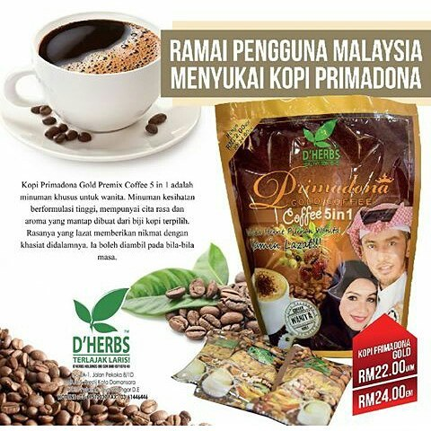 Primadona Gold Coffee D'Herbs