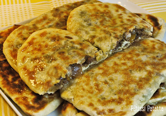 gôzleme, gözleme à la viande, pain Turque fourré, galette Turque, recette Turque, cuisine Turque, finger food,