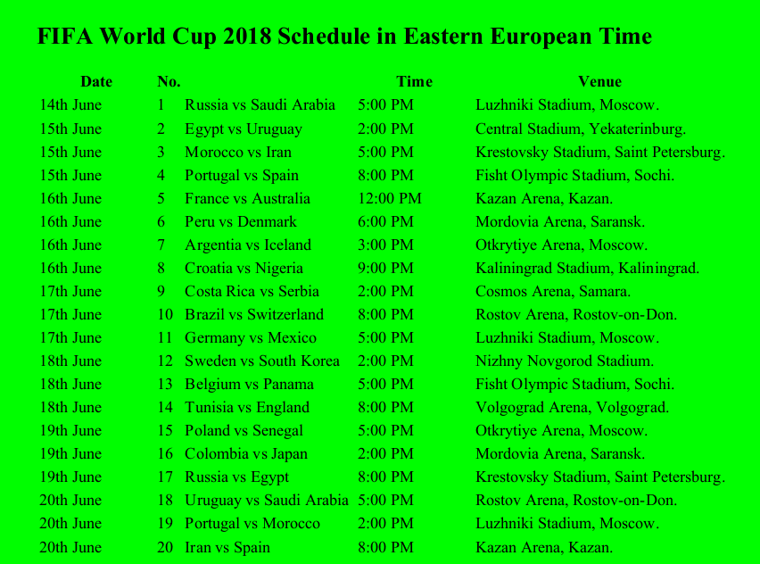 fifa world cup 2018 schedule eet pdf