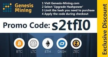 Genesis Mining promo code s2tfI0: Genesis-Mining promo code