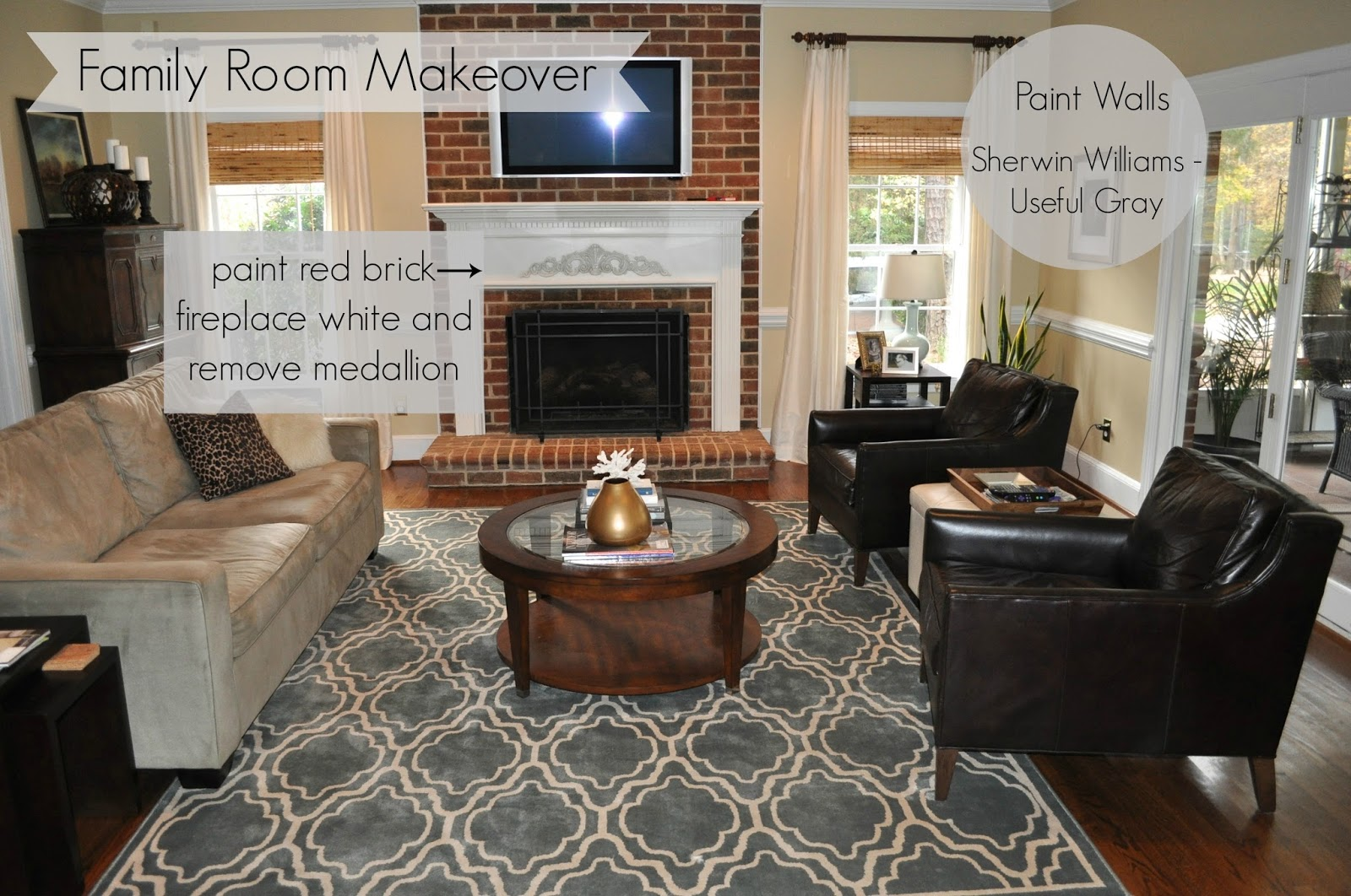 The Collected Interior: Painted brick fireplace & family ...