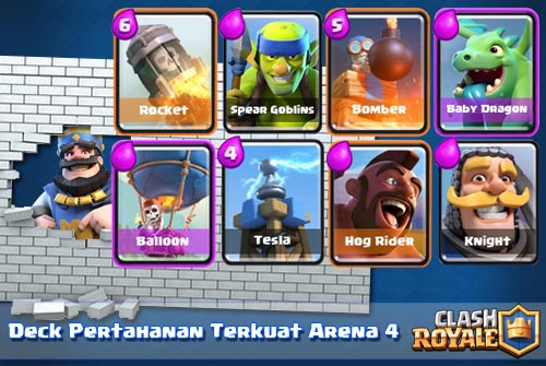 Membangun Deck Pertahanan Kuat di Arena 4 Clash Royale