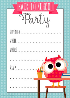 free printable party invitations back to school. Black Bedroom Furniture Sets. Home Design Ideas